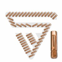 STAHLWERK tubes/buses contacts de courant M6 x 25 x1,0...