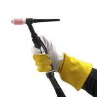 Gants de soudage vêtements de protection en cuir véritable pour TIG / TIG / MIG / MAG / MMA / Plasma