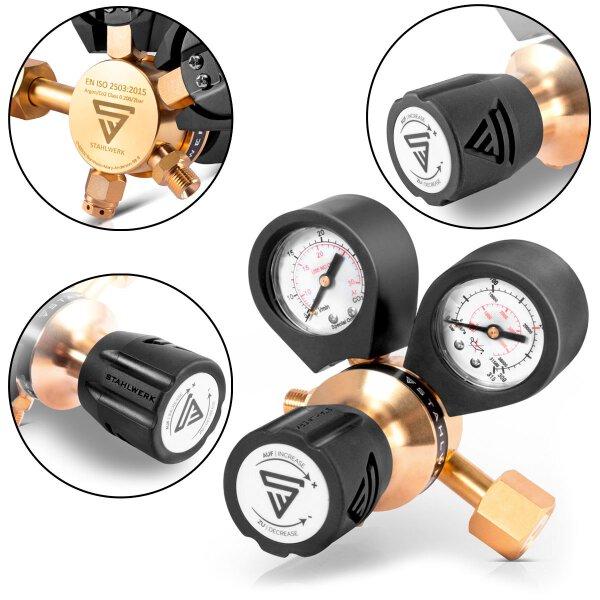 Réducteur de pression(Manométre) STAHLWERK pour ARGON /CO2 / gaz mixtes / gaz protecteur